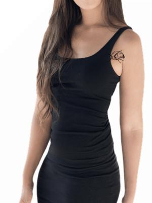 tatuaje temporal abeja fashion