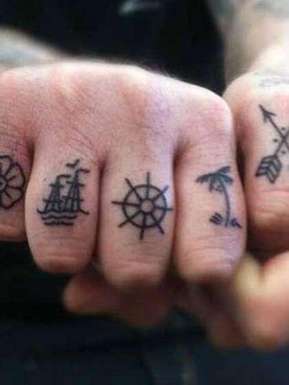 Tatuaje temporal dedos