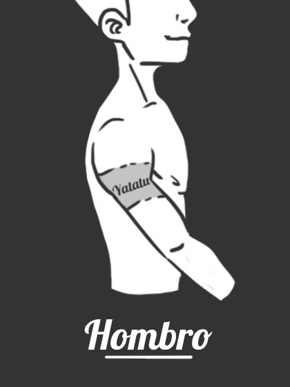 Tatuaje temporal hombro