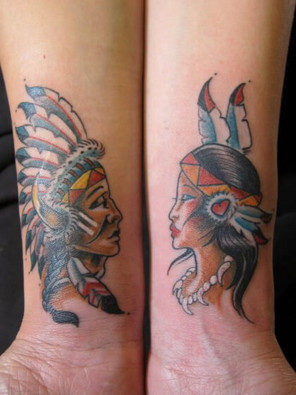 Tatuaje temporal indios