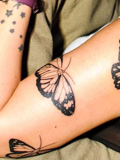 Tatuajes temporales mariposas