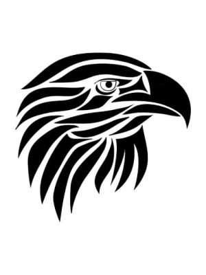 Tatuaje Temporal Tribal Águila 2