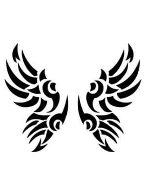 Tatuaje Temporal Tribal Alas 1
