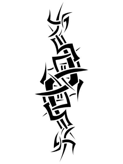 Tatuaje Temporal Tribal Brazalete Espinas