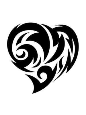 Tatuaje Temporal Tribal Corazón 1
