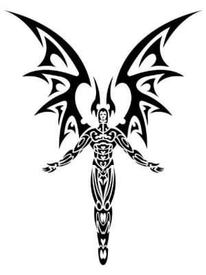 Tatuaje Temporal Tribal Demonio