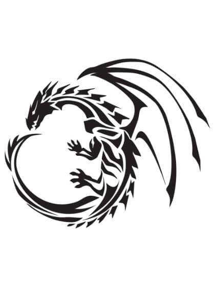 Tatuaje Temporal Tribal Dragón 3