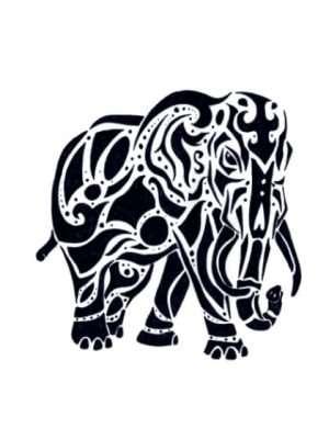 Tatuaje Temporal Tribal Elefante 1
