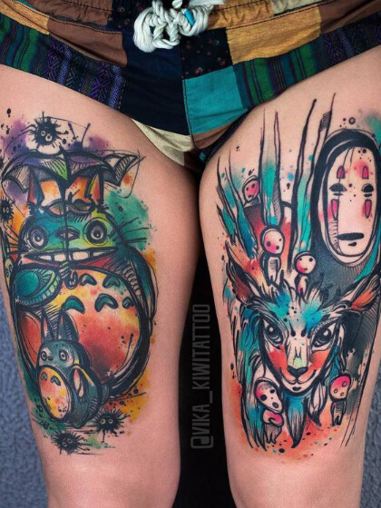 Tatuajes temporales piernas mujer