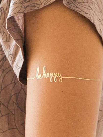 Tatuaje dorado